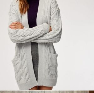 Aritzia Wilfred cable Knit charlisa cardigan
